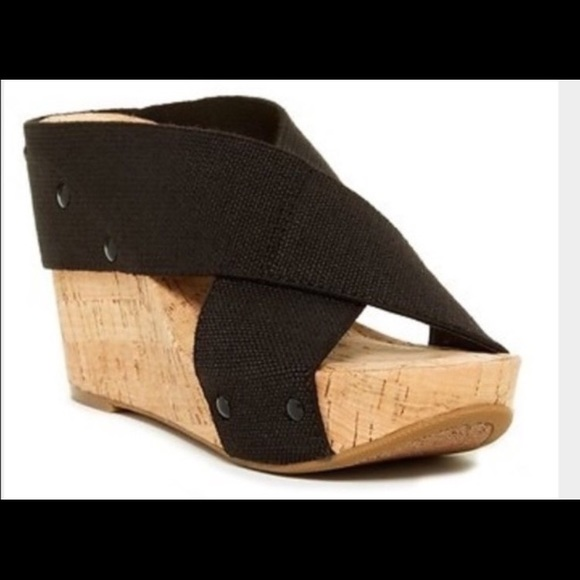 057bc0ceb8d5 Lucky Brand Shoes - Lucky Brand Miller Cork Wedge Platform Sandals 9